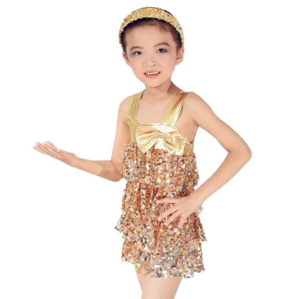 MiDee Sequins Tires Dancing Dress For Girls Jazz Dress Latin Salsa Costume
