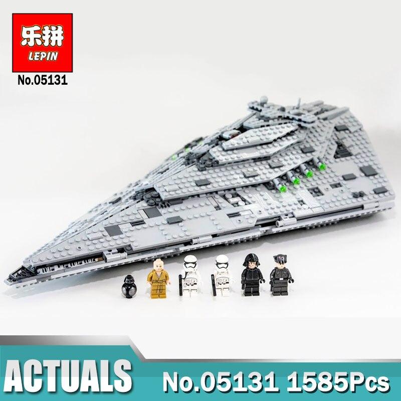 1585Pcs Lepin 05131 Star The First order Star Destroyer Set Compatible LegoING 75190 Wars Building Blocks Bricks Toy цены онлайн
