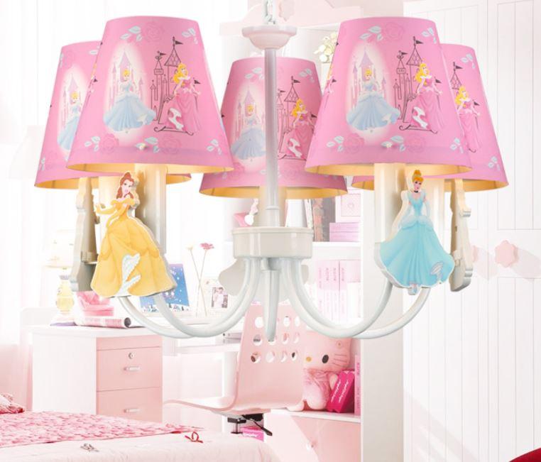 Children Cartoon Bedroom Chandelier Snow White Girl Bedroom Room Chandelier Cartoon Creative LED Cartoon Chandelier cartoon