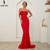 Missord 2019 Sexy Women Off Shoulder Backless Vestidos Summer Dresses Maxi Women Dress FT18409