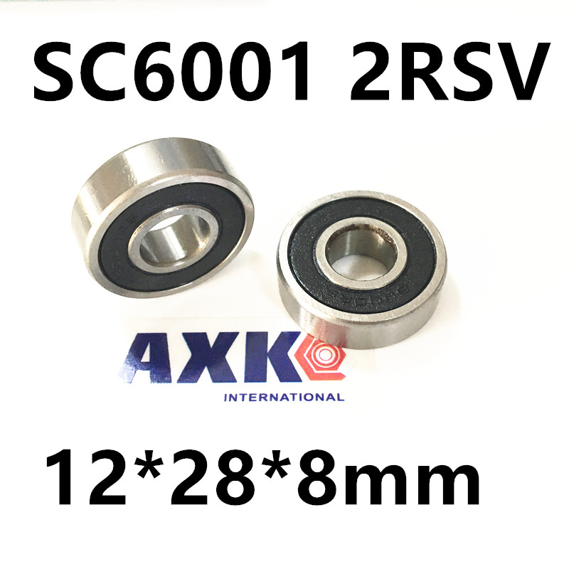 Free Shipping wheel hub novatec bearing sc6001 2rsv 12*28*8mm 6001 stainless steel Si3N4 hybrid ceramic bearing 15267 2rs 15 26 7mm 15267rs si3n4 hybrid ceramic wheel hub bearing