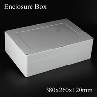 1 Piece Lot 380x260x120mm Grey ABS Plastic IP65 Waterproof Enclosure PVC Junction Box Electronic Project