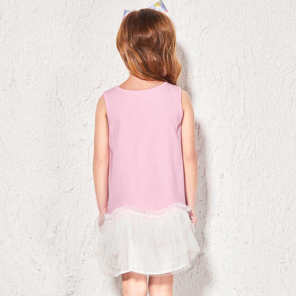 Balabala платье принцессы для девочки красивое платье без рукавов детская одежда, костюм детская одежда для девочек из сетчатой ткани платья gored Вечерние