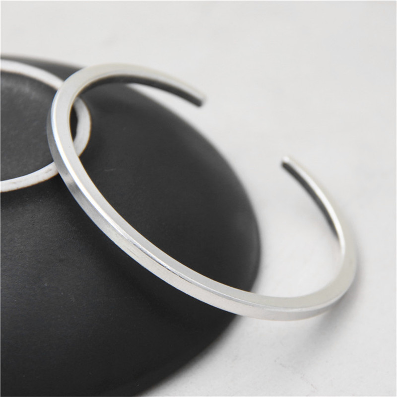JINSE New Famous Brand Trendy Antique Thai 925 Silver Bangles Bracelets For Men Women Fashion Jewelry