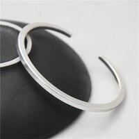 JINSE New Famous Brand Trendy Antique Thai 925 Silver Bangles Bracelets For Men Women Fashion Jewelry