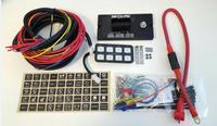 8 Gang LED Switch Panel Slim Touch Control Panel Box with Harness and Label Stickers