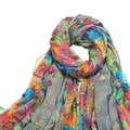NEW Women's Spring Autumn Fashion Gray Soft Big Long Scarf Vintage Printing Scarves 160*50cm