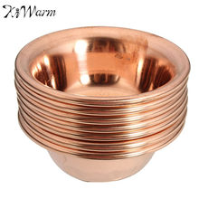 KiWarm 7Pcs/set Tibet Tibetan Buddhist Offering Water Bowl Divine Red Copper Ritual Container Bowls Decoration Crafts 7x3cm(China)