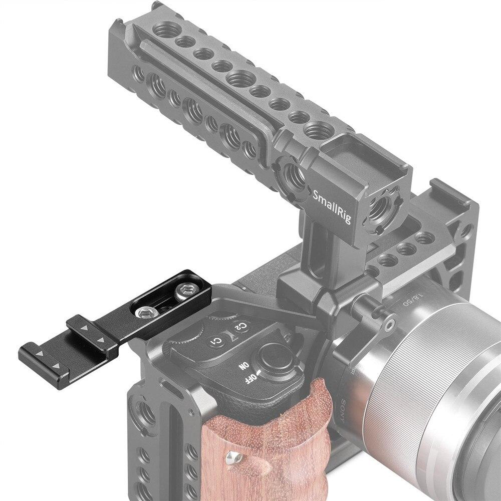 Zapato frío SmallRig Adaptador de montaje con anti-OFF Botón para Cámara DSLR Rig Jaula