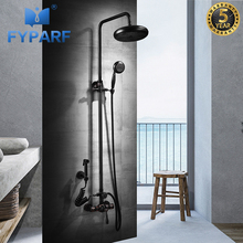 FYPARF Shower Faucets Luxury Bath Shower Sets Bathroom Wall Mounted Hand Held Shower Head Kit Shower Faucet Set with Bidet Tap gold plating bathroom bath faucet wall mounted hand held shower head kit shower mixer sets