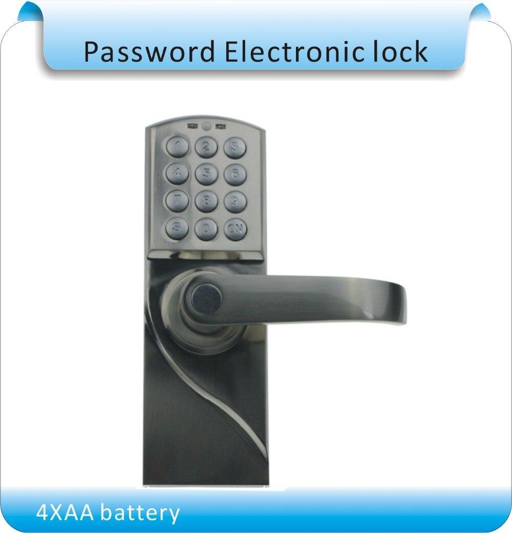 DIY  4XAA battery working Password Door Lock  office door lock Password & Mechanical key for 35- 50mm thick door