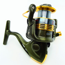 Fishing Reels Flash Gold Color Metal Material Spinning Wheel Road Sub-round 10 Bearing Fish Tools