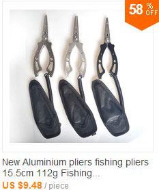 alumínio dobrável apertos labial de pesca de