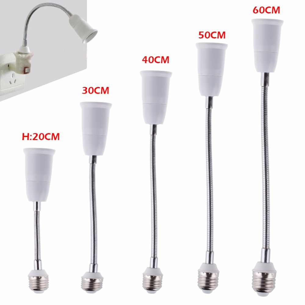 1X LED E27 to E27 Adapter Socket 60cm Extend Wire Halogen CFL Light Lamp base converter e27 to e27 bulb holder adapter 85-265V