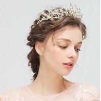 1pc 2018 New Design Corolla Crown Fashion Diadem Bridal Wedding Hair Clasp Rhinestone With Head Tiara Hair Jewelry Accessories
