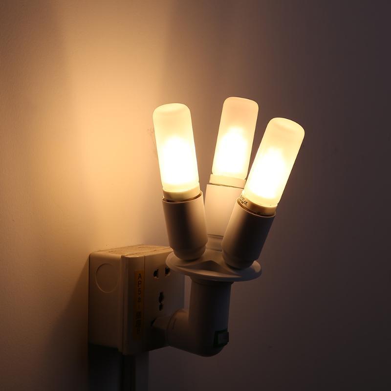 3 in 1 E27 60W Lamp Holder Light Bulb Socket Adapter Splitter Shift 3E27 Studio Plastic 110V-240V For Illumination Accessory