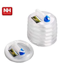 10L Outdoor Folding Bucket PE Portable Compression Drinking Water Bag Applicable Car Washing Bucket