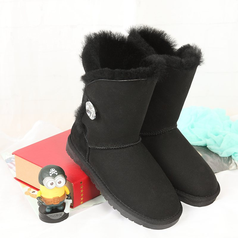 High quality winter snow boots new Australian natural sheepskin boots in leather boots female warm shoes wholesale FREE SHIPPING