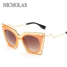 New Cat eye Sunglasses women brand designer twist curve Fashion Summer sun glasses Party shades glasses UV400 Lady