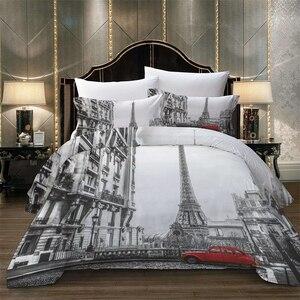 Image 3 - Lovinsunshine conjunto de roupa cama rainha consolador define vista da cidade 3d impressão digital parrure de lit ab #65