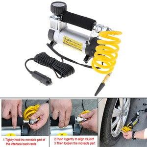Image 5 - 100PSI 12V Portable Car Electric Tire Air Pump Compressor Inflator Mini Air Compressor Air Inflator Pump 1set