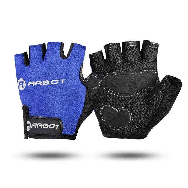 Marke Half Finger Radfahren Handschuhe Bike Racing mtb Handschuhe für männer frauen Schwarz Rot Blau shock proof padded