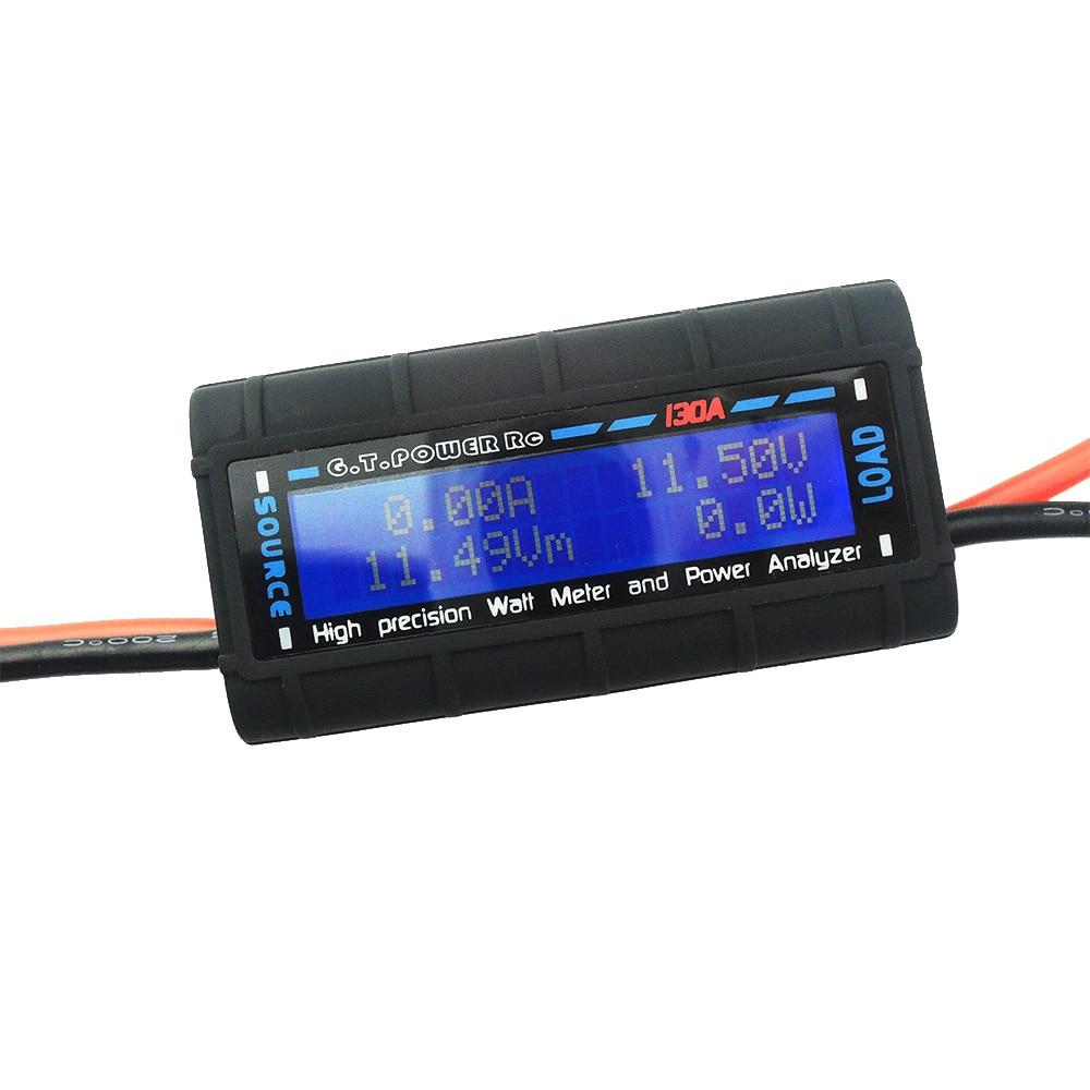 High-precision RC 0-60V 130A Watt Meter Voltmeter Power Analyzer Backlight LCD new 4 8v 60v 150a lcd g t power module rc watt meter tester and power analyzer high precision