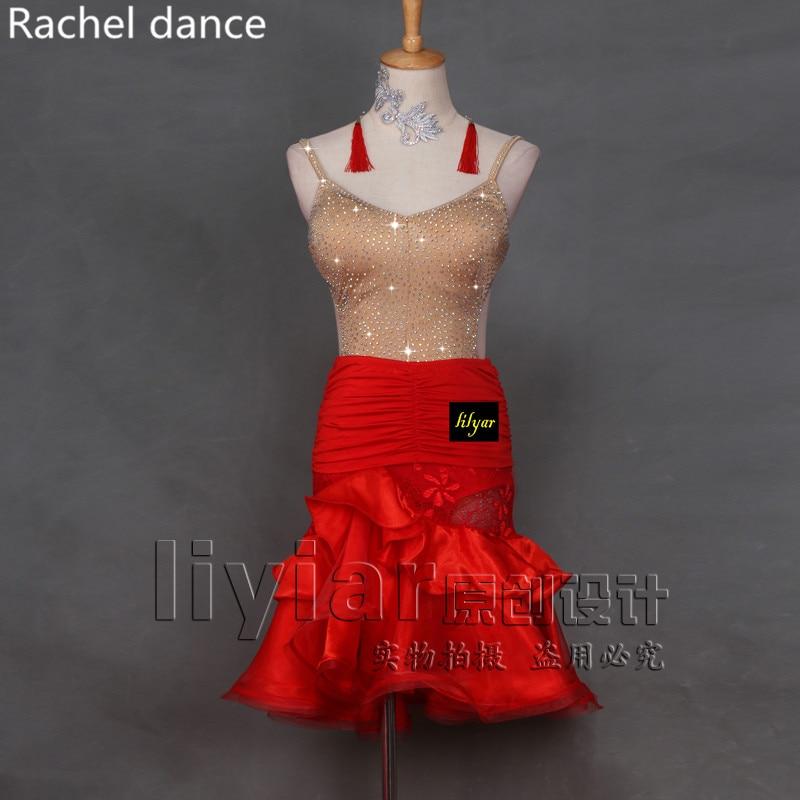 Nouveau harnais Latin danse robe femmes Tango robe Salsa Rumba moderne danse Costumes Latin robe danse vêtements danse