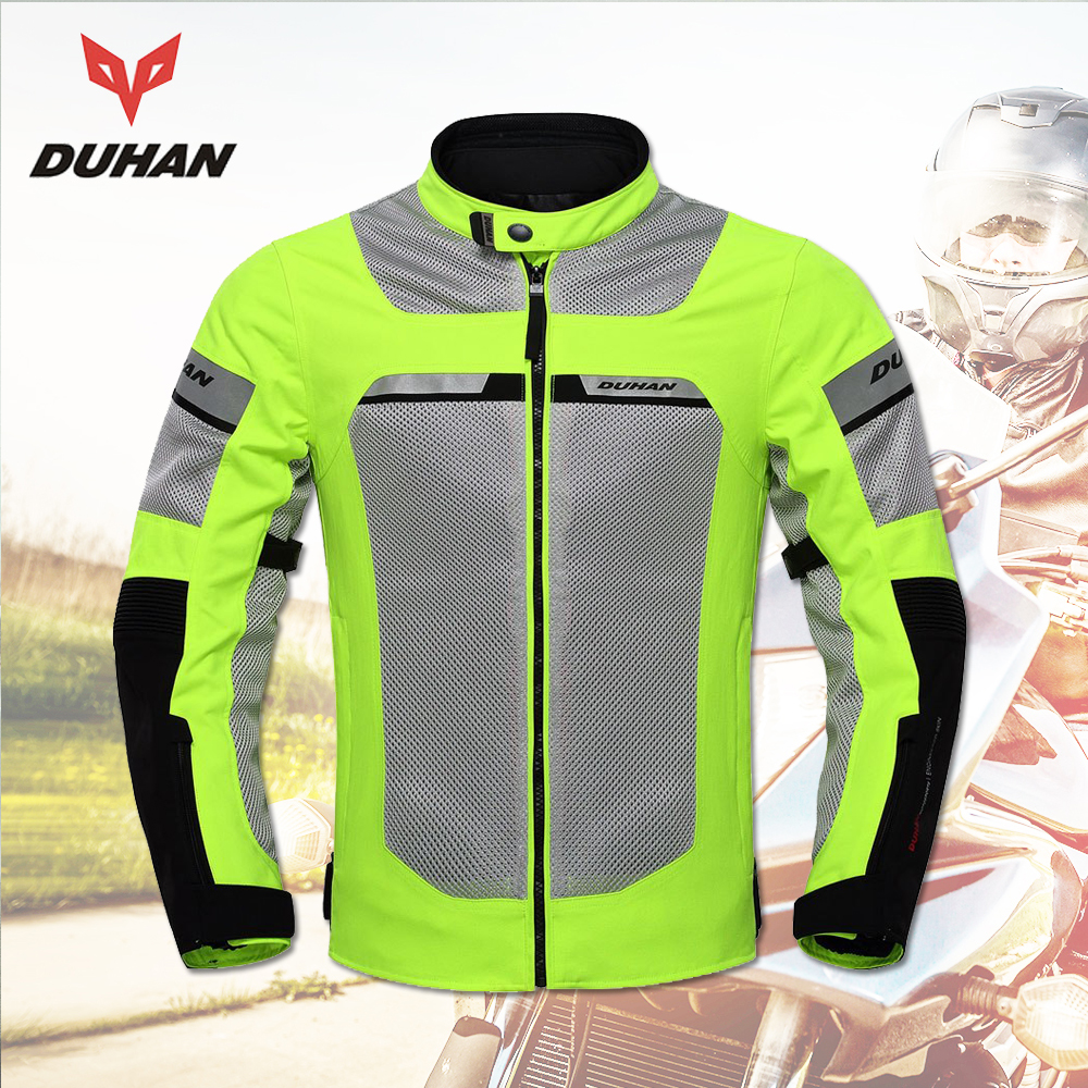 DUHAN Motorcycle Jackets Men Summer Moto Jackets Breathable Male Racing Jacket Motocross Clothing Motorcycle Jackets Black цены