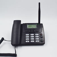 GSM 900 1800MHz Support SIM Card Fixed Phone With FM Radio Call ID Handfree Landline Phone