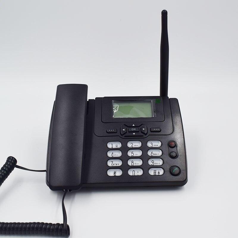 GSM 900/1800 MHz Soutien SIM Carte Fixe Téléphone Avec FM Radio Call ID Mains Libres Téléphone Fixe Fixe Sans Fil téléphone Maison Noir