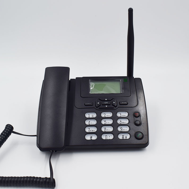 GSM 900/1800MHz Support SIM Card Fixed Phone With FM Radio Call ID Handfree Landline Phone Fixed Wireless Telephone Home Black