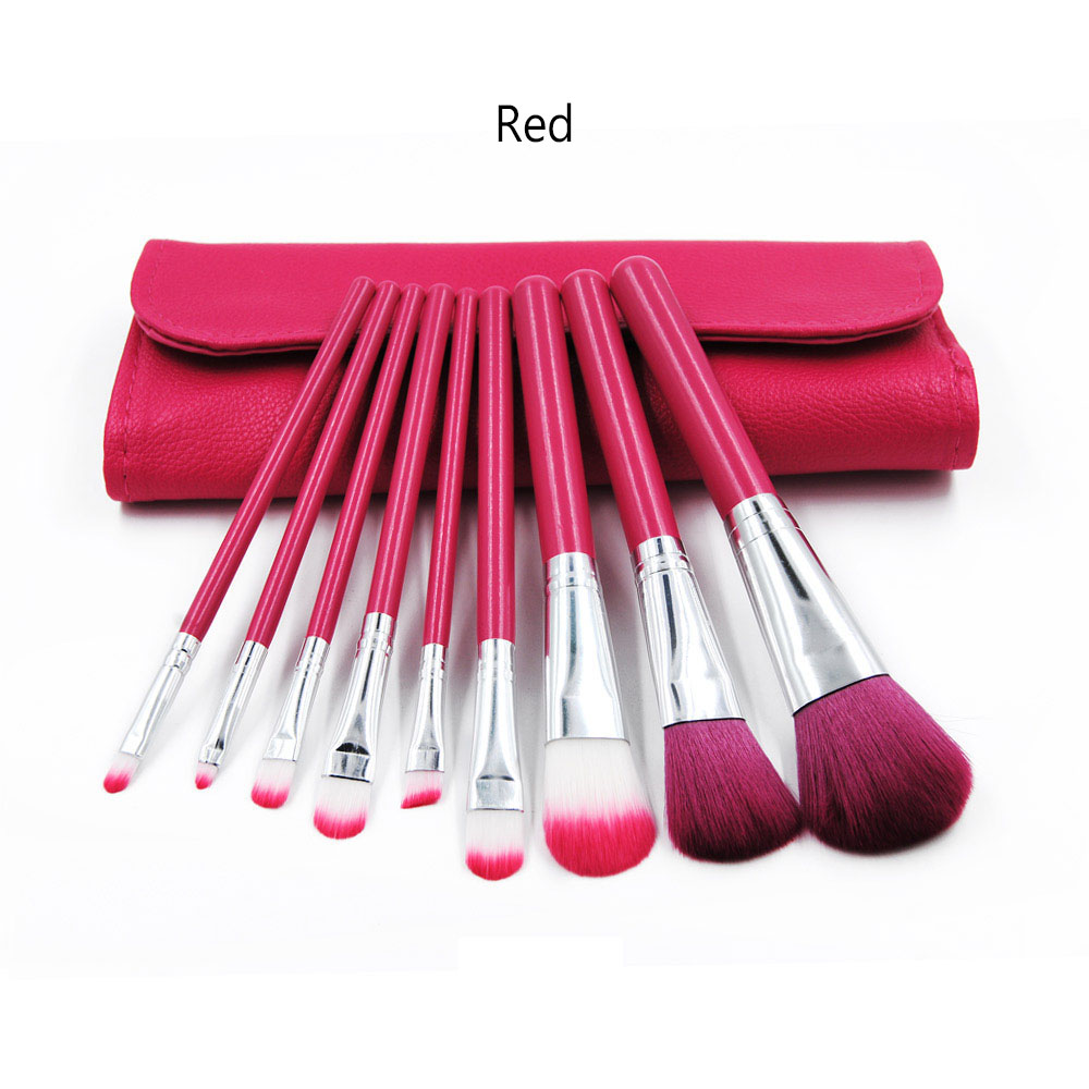 9pcs Makeup Brush Set Blush Powder Eyeshadow Lip Foundation Brush maquiagem with Bag Kit Beauty Tool Pincels Make up Brushes 12 pieces set beauty makeup brushes set foundation powder eyeshadow eyeliner lip blush make up tools pinceis de maquiagem kit