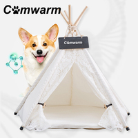 Comwarm Lace Pet Teepee House Pet Bed Cat Bed Pet House Portable Dog Tents House Bed for Small Dogs Best Selling Pet Supplies