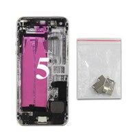 Retour Logement Pour iPhone 5 Haute Qualité Couvercle De La Batterie de Couverture Arrière Cadre Châssis + IMEi + Flex câble + Boutons + outils Livraison Gratuite