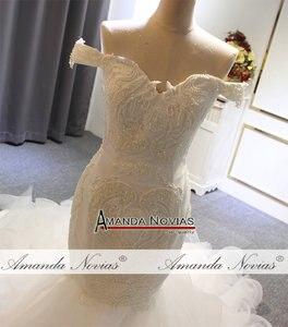 Image 2 - Volledige Kralen Mermaid Trouwjurk Nieuwe Model Designer Amanda Novias