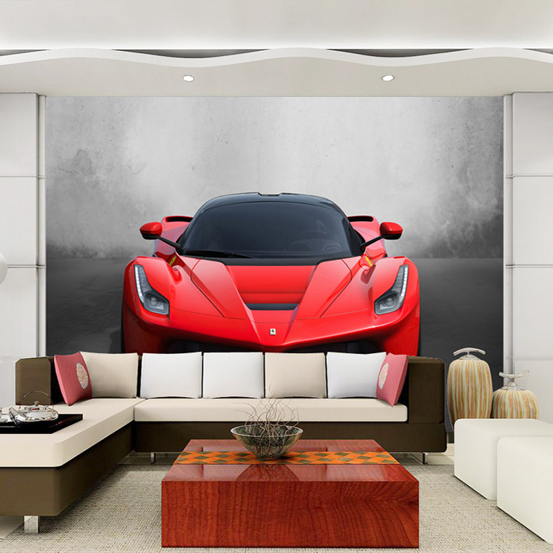 Custom Any Size 3D Sports Car Poster Photo Wallpaper Living Room Study Bedroom TV Background Wall Mural Wallpaper De Parede 3D spring abundant flowers rich large mural wallpaper living room bedroom wallpaper painting tv background wall 3d wallpaper