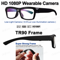 C1 Outdoor Sport TR90 Frame Smart Glasses Low Light HD 1080P Mini Camera Glasses Car Driving Video Recorder OTG for Android 4.0+