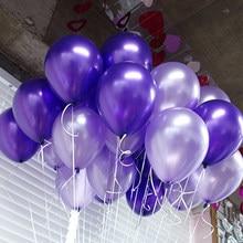 Ballons en Latex avec perles, 10 pouces, 1.5g, 21 couleurs, gonflables, pour décoration de mariage, à Air, fournitures pour fête joyeux anniversaire, 10 pièces