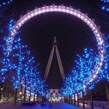 600 LED 100 เมตร String ไฟ Fairy คริสต์มาส Xmas ตกแต่ง Garland งานแต่งงานตกแต่งสีแดงสีฟ้าสีขาวสีเหลืองสีชมพูฟรี