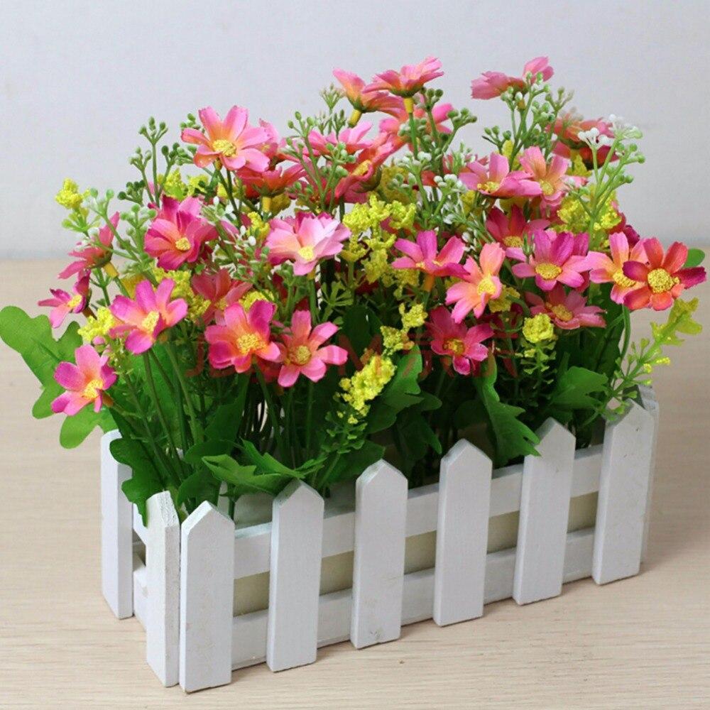 Nuovo recinto di legno bianco vasi di fiori pastorale for Vasi decorativi per giardino