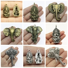 2019 Mix Elephant Necklace Pendant Charms For Jewelry Making Diy Craft Supplies Men Jewelry elephant god 2019 mix elephant necklace pendant charms for jewelry making diy craft supplies men jewelry elephant god
