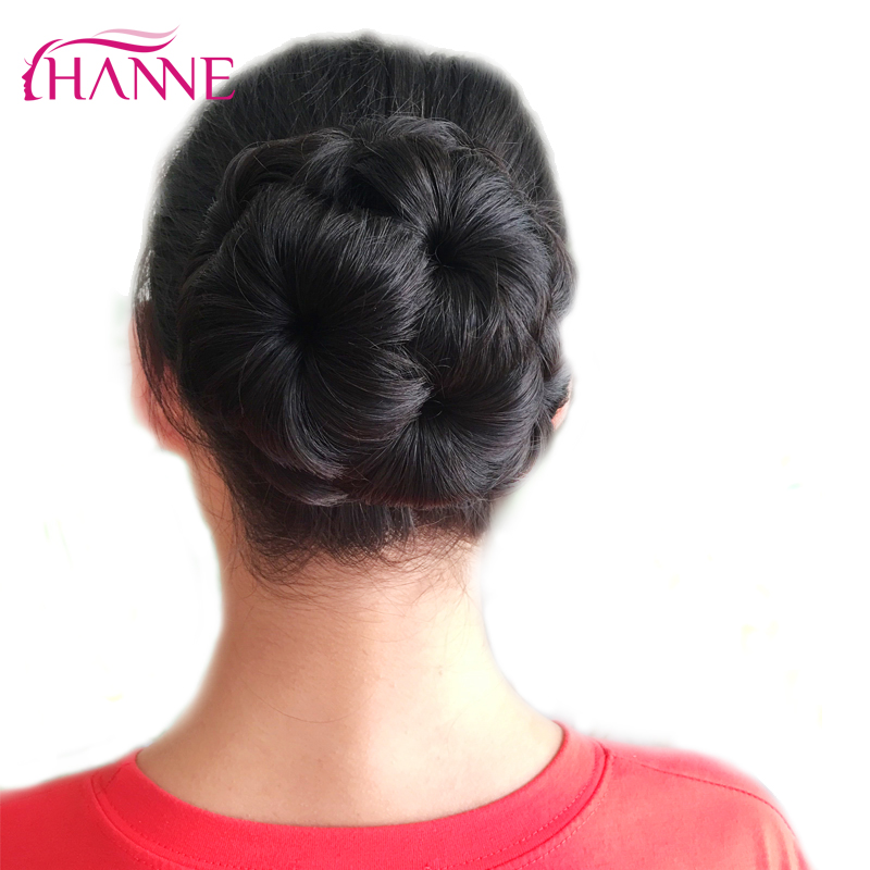 HANNE Hair Women Chignon Hair Bun Donut Clip In Hairpiece Extensions Black/Brown/Red Synthetic High Temperature Fiber Chignon