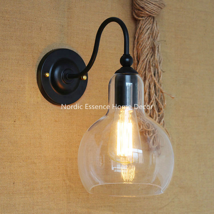 ФОТО Nordic American country pop creativity & innovation LOFT North America popular modern restaurant wrought iron glass wall sconce