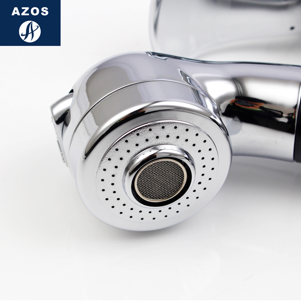 Modern Bathroom Faucet Pull Out Shower Head Nozzle Single Handle Swivel Spout Sink Mixer Tap Chrome Polish 2 Modes CLMP011Z-in Basin Faucets from Home ...