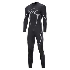 Image 4 - New One Piece Neoprene 3mm Diving Suit Winter Long Sleeve Men Wet suit Prevent Jellyfish Snorkeling Suit Free Shipping