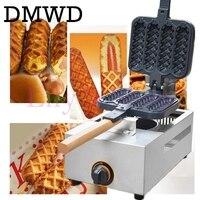 Gas crispy maker French hot dog lolly stick hot dogs machine hot dog waffle Sausage Machine Lolly Hotdog Waffle Making Machine