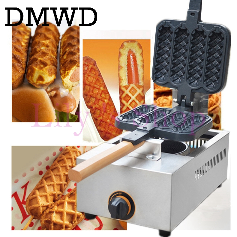 Gas crispy maker French hot dog lolly stick hot dogs machine hot dog waffle Sausage Machine Lolly Hotdog Waffle Making Machine free shipping new arrival waffle hot dog maker gas waffle stick maker lolly waffle machine grill