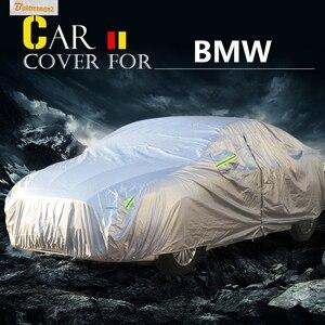 Buildreamen2 pokrowiec na samochód anty uv słońce deszcz śnieg chroniąca przed zarysowaniami pokrywa wodoodporna dla BMW serii 1 116 116i 118 118i 120 120i