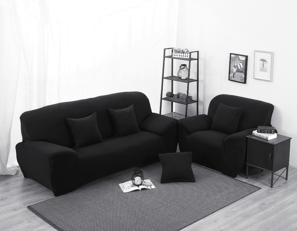 Funda sofa cover black color sectional sofa cover l shaped for Funda sofa exterior
